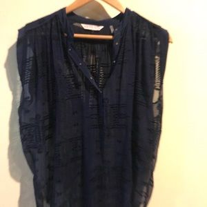 Rebecca taylor navy shirt Size0